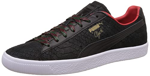 a575a1fcf3b6 Puma Men s Clyde GCC Black and High Risk Red Sneakers - 10 UK India ...