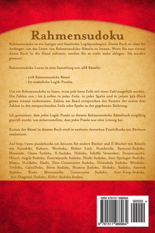 Rahmensudoku Luxus - Band 3 - 468 Rätsel (Volume 3) (German ...