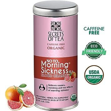 Morning Sickness relief Tea-Blood Orange -USDA Organic Pregnancy Tea for  Nausea, Constipation &