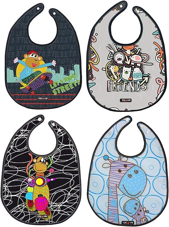 Tris&Ton Pack de Baberos Babero impermeable sin mangas para bebe ...