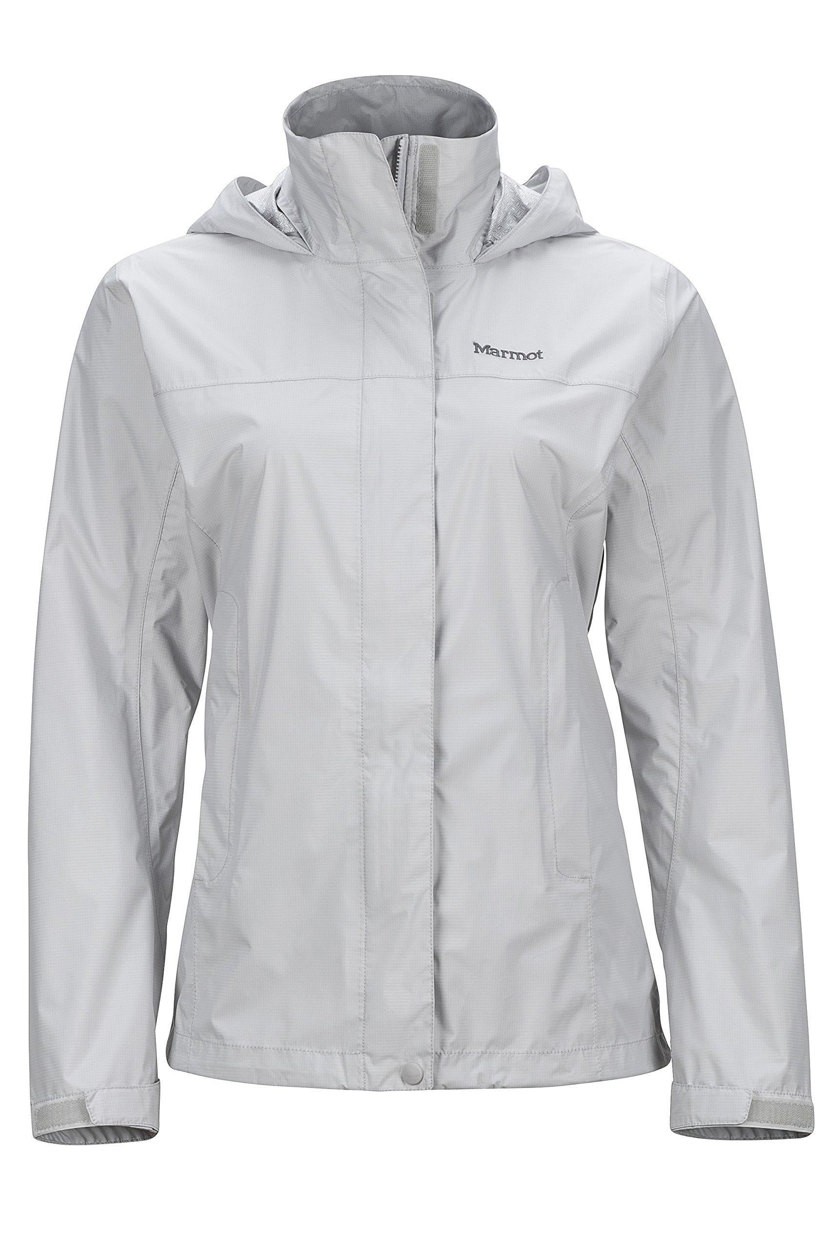 Marmot PreCip Women's Lightweight Waterproof Rain Jacket, Platinum, X-Small