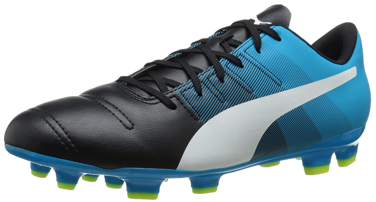 PumaメンズevoPOWER 4.3 FGスニーカー B010FFPK3QBlack/White/Atomic Blue 10 D(M) US