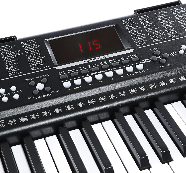 Joy Teclado electrónico estándar de 61 teclas de piano ...