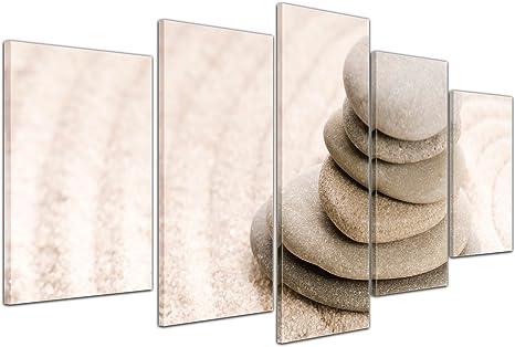 Bilderdepot24 Cuadros en Lienzo Piedras del Zen VIII - 130x80 cm 3 ...