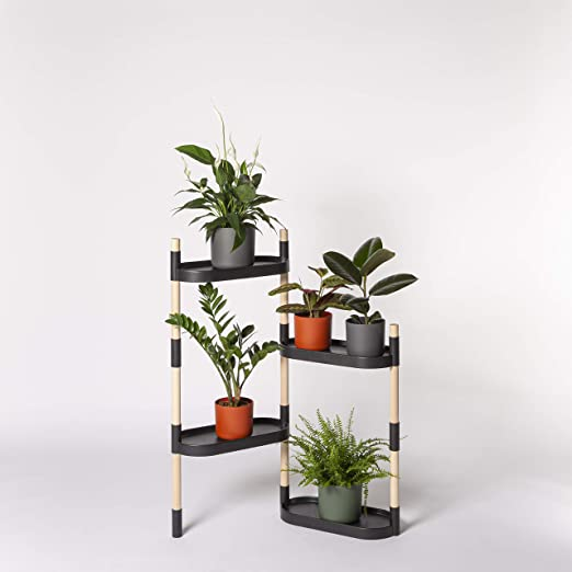 Citysens - Estantería para Plantas con riego automático, Negra, 4 ...