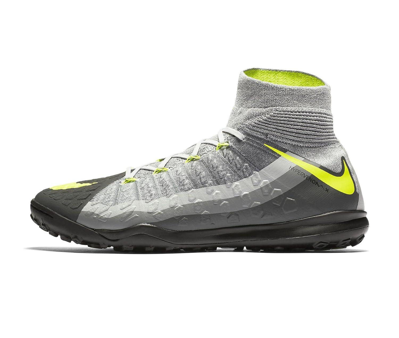 NIKE Men's Hypervenomx Proximo II DF TF Turf Soccer Shoes (Black, Grey, Volt) B06XKQ92GG 10.5 D(M) US
