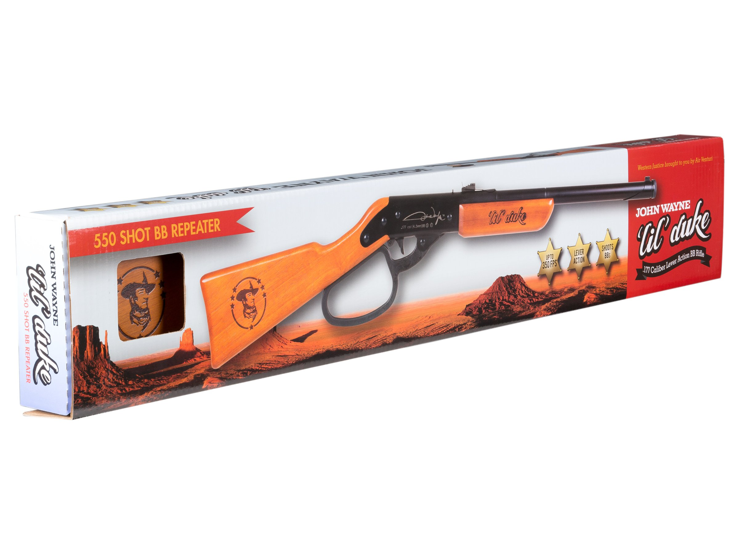 Western Justice John Wayne Lil' Duke BB Gun, Fun Collectible