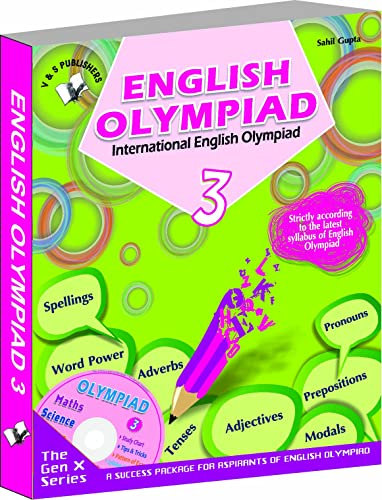 International English Olympiad - Class 3  with CD: Essential Principles with Examples; Mcqs and Solutions; Model Test Papers