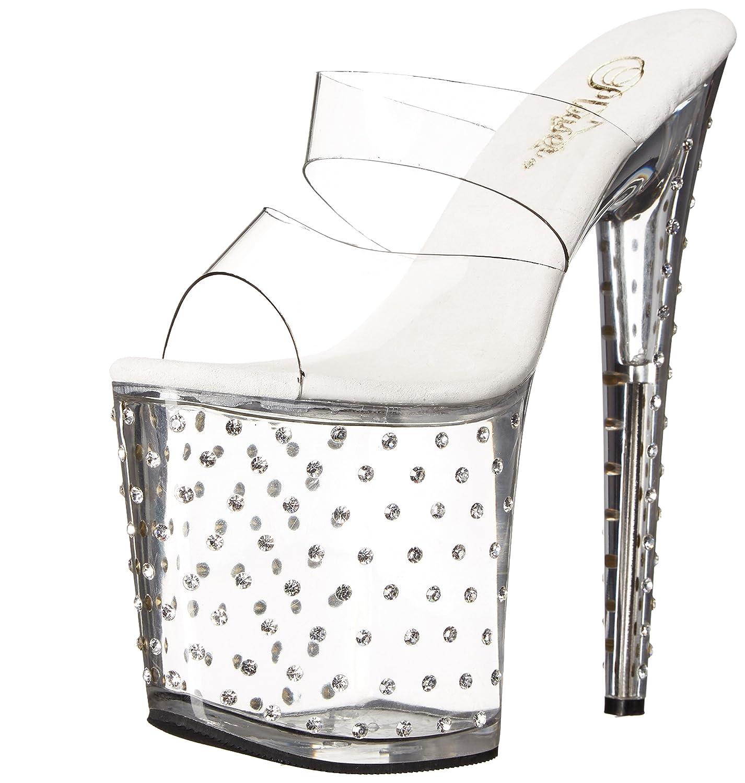 Pleaser Women's STDUS802/C/M Platform Dress Sandal B00B472RHW 11 B(M) US|Clear/Clear
