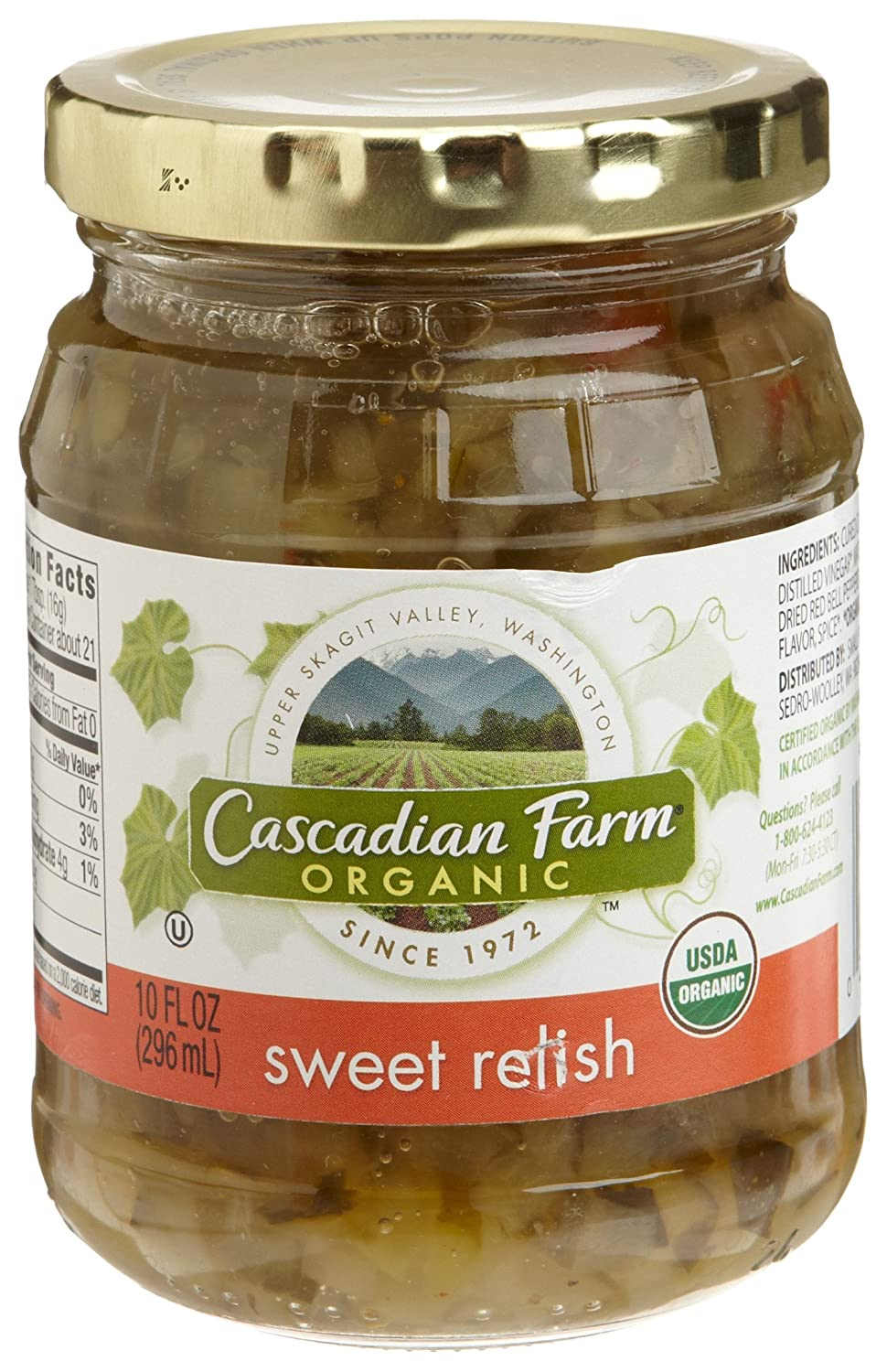 Amazon.com : Cascadian Farm Sweet Relish, 10-Ounce Glass Jars (Pack of 6) : Condiments Pickles And Relishes : Grocery & Gourmet Food