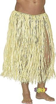 WIDMANN - Falda hawaiana - Realizada en rafia - Color paja ...
