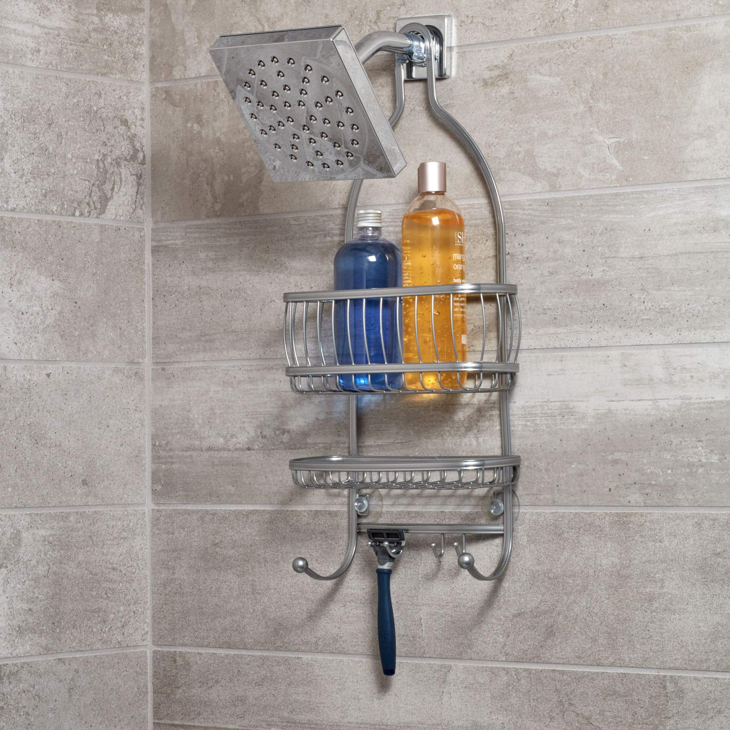 Interdesign York Lyra Extra Wide Bathroom Shower Caddy For Shampoo