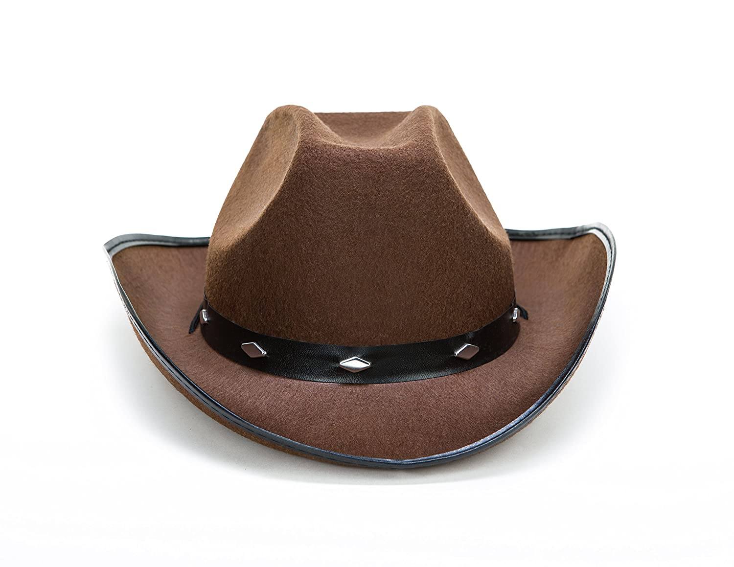 343dbf0f4822a Amazon.com  Kangaroo Brown Studded Cowboy Hat  Toys   Games