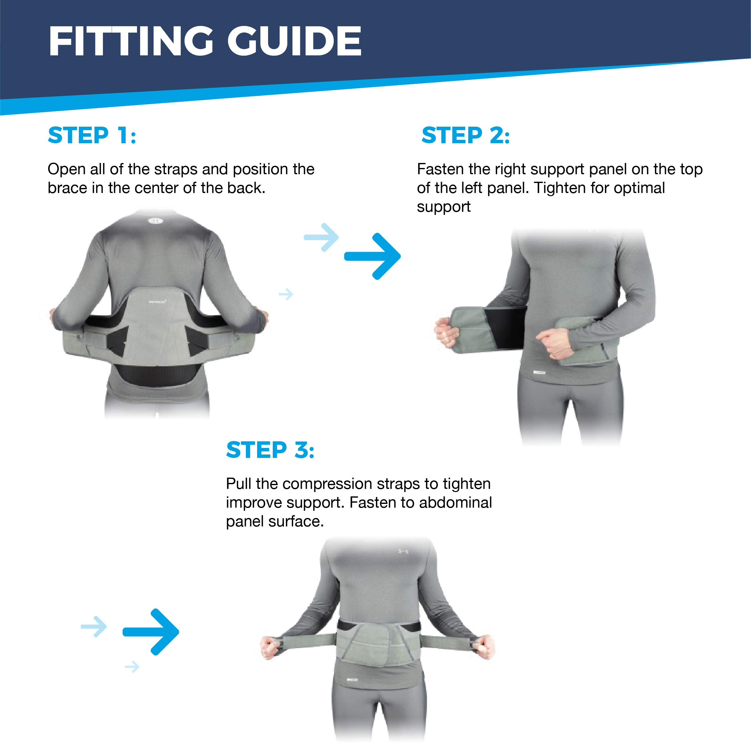 VertaLoc Flex FIT Medical Grade Back Brace and Support for Lower Back Pain - Extra Large by VERTALOC, INC. (Image #5)