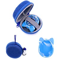xcivi Hard Carrying Case and Silicone Cover for Tamagotchi On Virtual Interactive Pet Game Machine (Blue)
