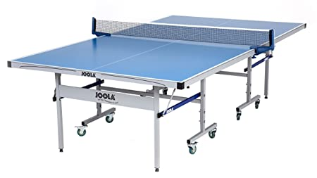 JOOLA NOVA Outdoor Table Tennis Table with Aluminum Composite Top for Tournament Quality Playability and All-Weather Durability – Featuring 10 Minute Assembly and Weatherproof Net Set