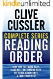 CLIVE CUSSLER COMPLETE SERIES READING ORDER: Dirk Pitt, NUMA Files, Oregon Files, Isaac Bell, Fargo Adventures, Nicefolk Twins, all non-fiction, and more!