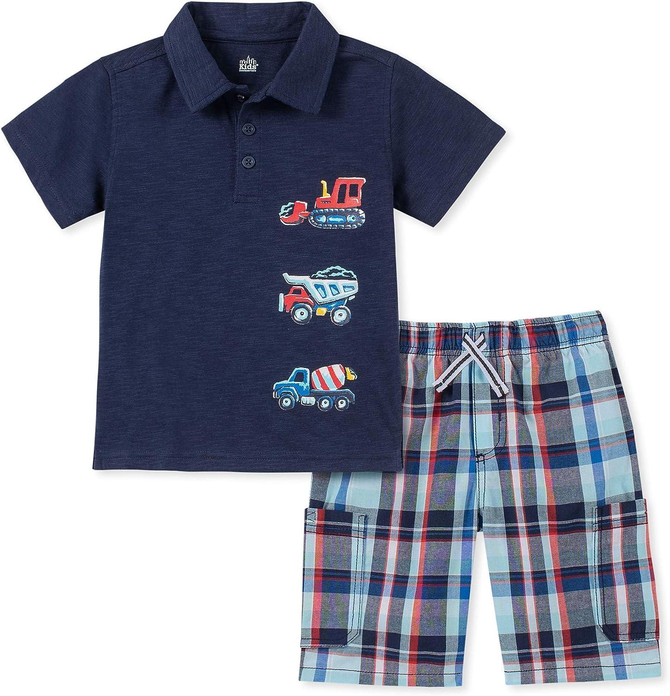 Kids Headquarters Baby Boys 2 Pieces Polo Shorts Set