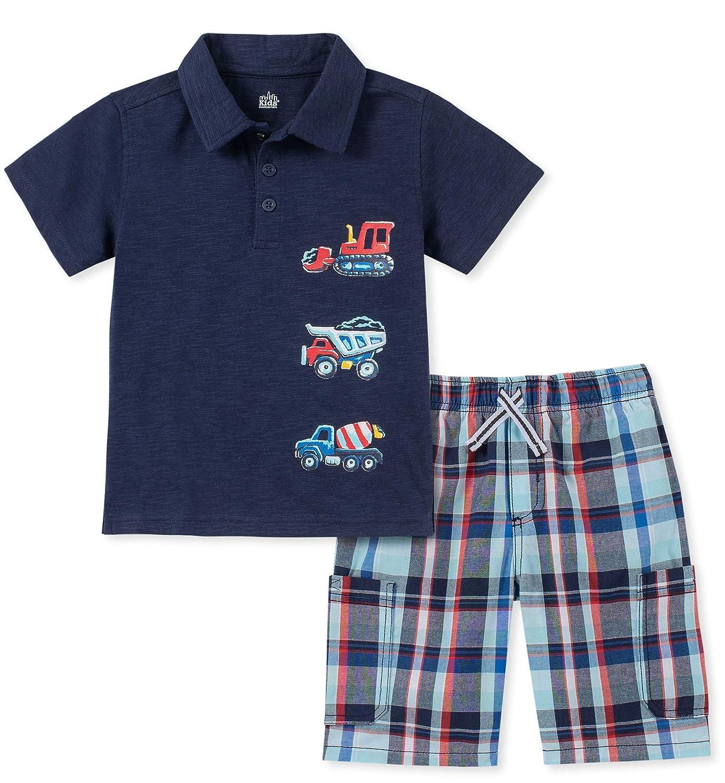 Kids Headquarters Boys 2 Pieces Polo Shorts Set