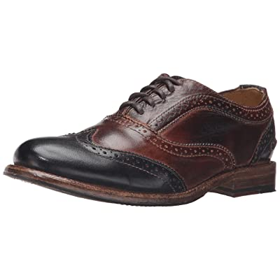 Bed Stu Women's Lita Oxford Teak/Black Rustic Rust Leather Shoe - | Oxfords