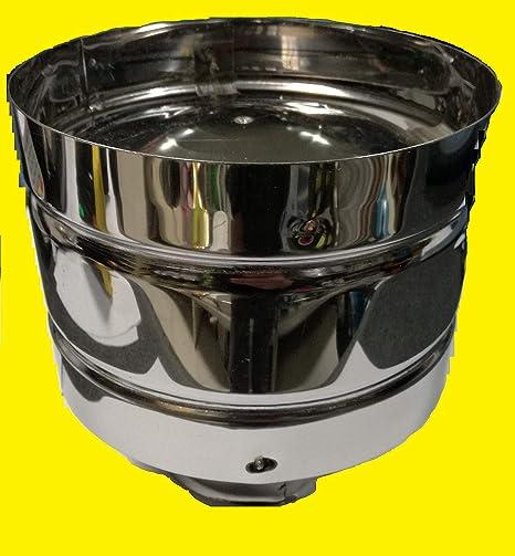 Sombrerete antiviento de acero inoxidable AISI 304 5/10 para ...