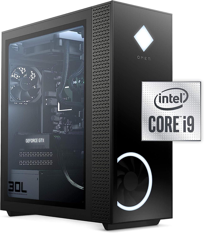 HP OMEN 30L (GT13-0092) Gaming Desktop, 10th Gen Core i9, 32GB RAM, 1TB SSD + 2 TB HDD