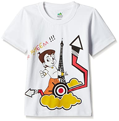 595cea811 Chhota Bheem Boys' T-Shirt: Amazon.in: Clothing & Accessories