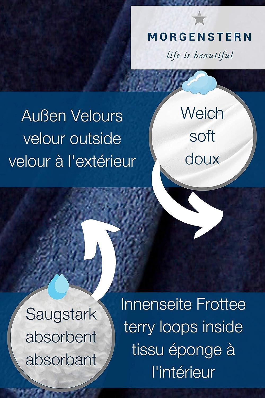 Asciugamano Kilt da Uomo corto colore Blu scuro Morgenstern 52/cm di lunghezza diametro 146/cm senza fili sull/'esterno per Sauna chisura con Bottoni ed Elastico in vita regolabile