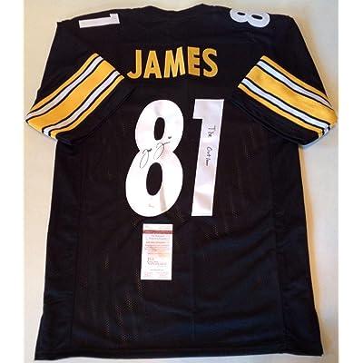 d45e2cdac Pittsburgh Steelers Jesse James Signed Custom Black Jersey outlaw Coa!!!! -  JSA