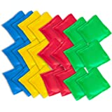 "Super Z Outlet Nylon Cornhole Bean Bags Toy Set Sack Hand Toss Games Weights for Kids (5"" x 5"" Assorted Colors) (24 Pack…"
