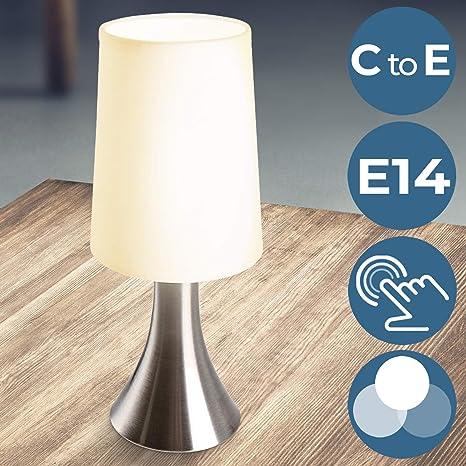 Jago - Lámpara de mesa táctil con 3 intensidades de luz