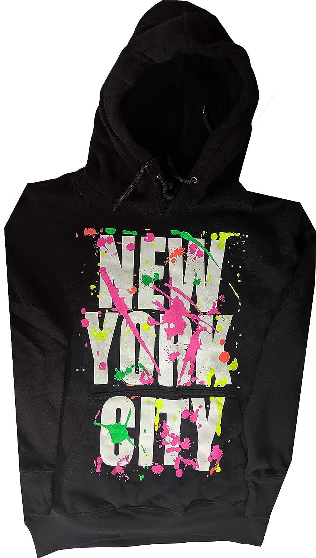 New York Paint Splash Hoodie Kids Sweatshirt NY Splatter Black Youth Shirt