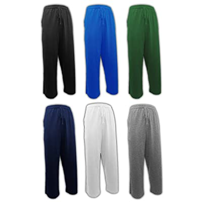 Andrew Scott Men's 6 Pack 100% Cotton Jersey Knit Yoga Lounge & Sleep Pajama Pants at Amazon Men's Clothing store