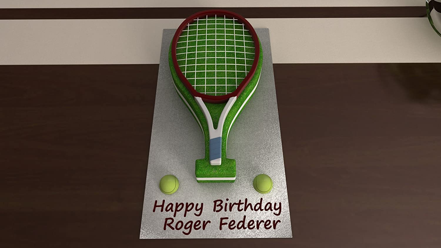 Tennis Racket Shaped Cake Pan Birthday Novelty Baking Themed Tin Co Uk Kitchen Home