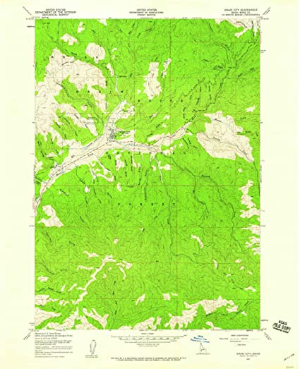 Amazon.com : YellowMaps Idaho City ID topo map, 1:24000 Scale, 7.5 X ...