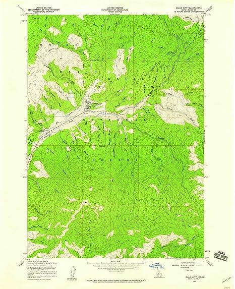 Amazon.com : YellowMaps Idaho City ID topo map, 1:24000 ...