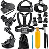 Neewer 12-in-1 Sport Accessori Kit per GoPro Hero Session/5 Hero 1 2 3 3+ 4 5 SJ4000 5000 6000 DBPOWER AKASO VicTsing APEMAN WiMiUS Rollei QUMOX Lightdow Campark e Sony Sport Dv