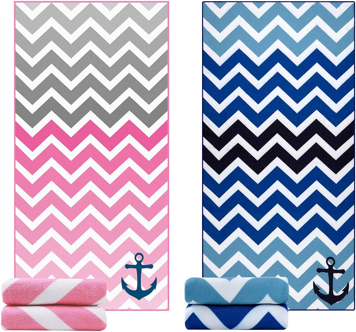 Beach Towel Large Beach Blanket Towel Pack of 2 Ultra Soft Super Water Absorbent