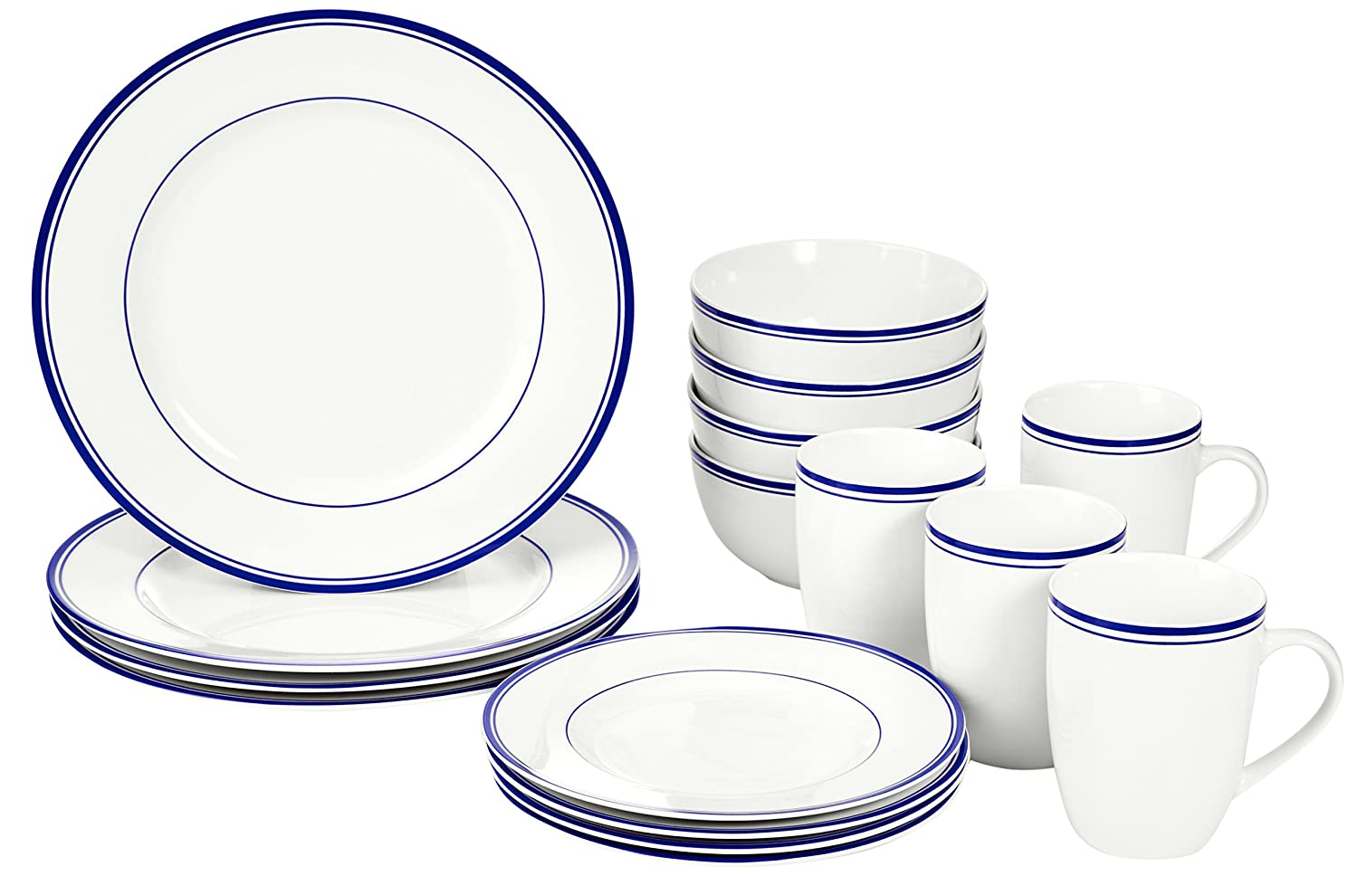 Bistro Blue Stripe Dining Set