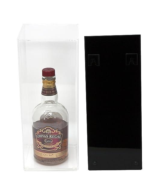 Amazon.com: Deluxe Botella de vino Display Case acrílico con ...