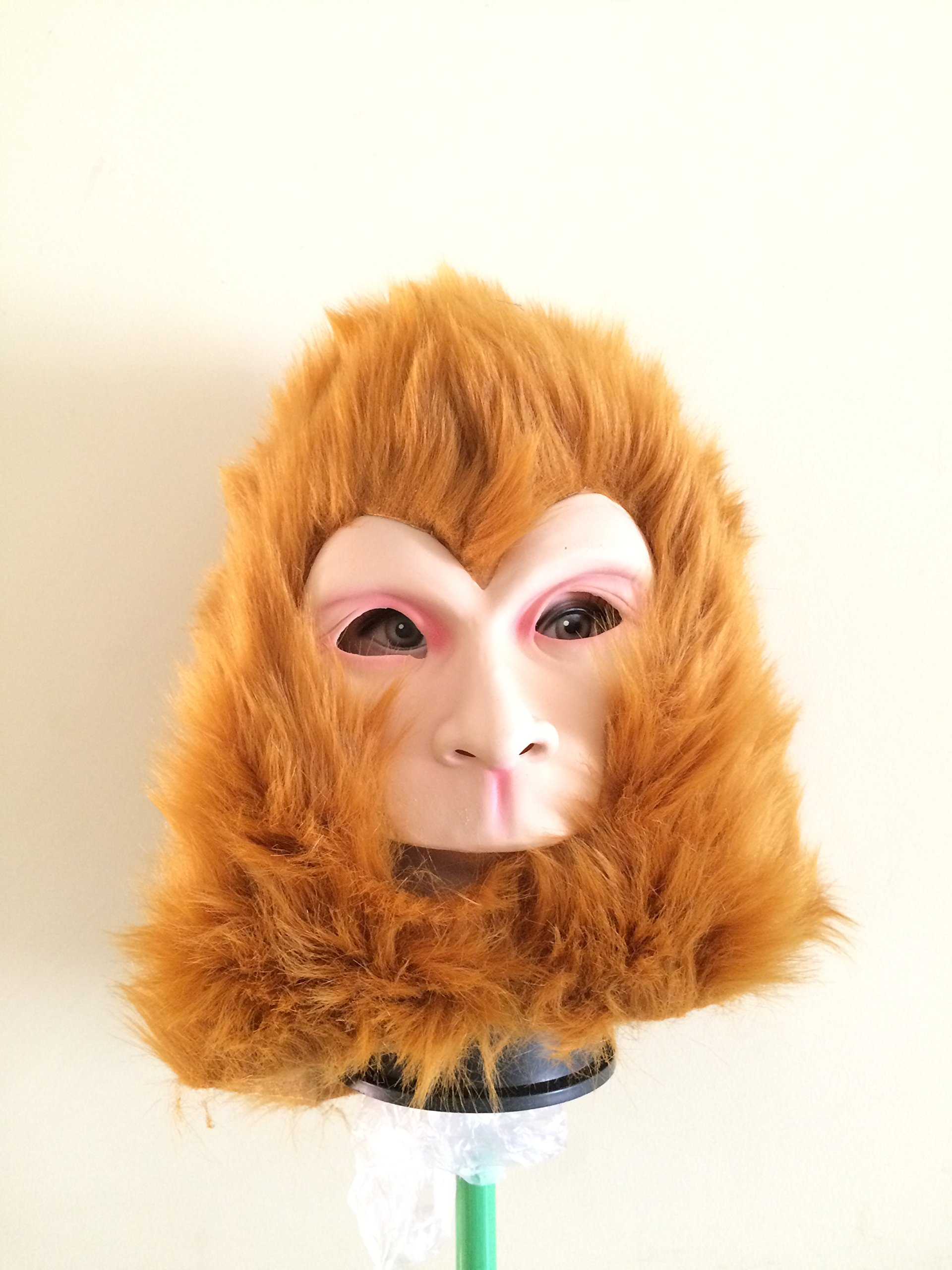 Monkey Full Head Mask,Dance Party Mask for Halloween,Costume,Easter,Cosplay