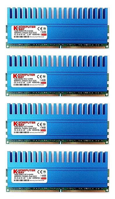 1095 opinioni per Komputerbay 16GB (4x 4GB) 240 Pin 800MHz PC2-6400/PC2-6300 modulo DDR2 DIMM di