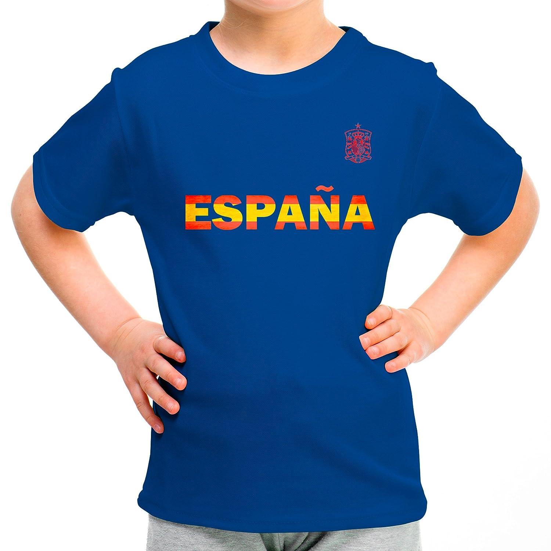 Lolapix Camiseta España roja Personalizada con Nombre y número. Camiseta de algodón. Regalo para niño. Varios diseños y Tallas. Fútbol: Amazon.es: Hogar