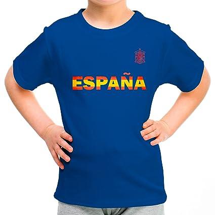 Lolapix Camiseta España Azul Personalizada con Nombre y número. Camiseta de algodón. Regalo para