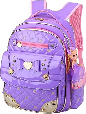Bookbag For Kids Backpacks Girls,Gazigo Waterproof With Bows To School Gifts