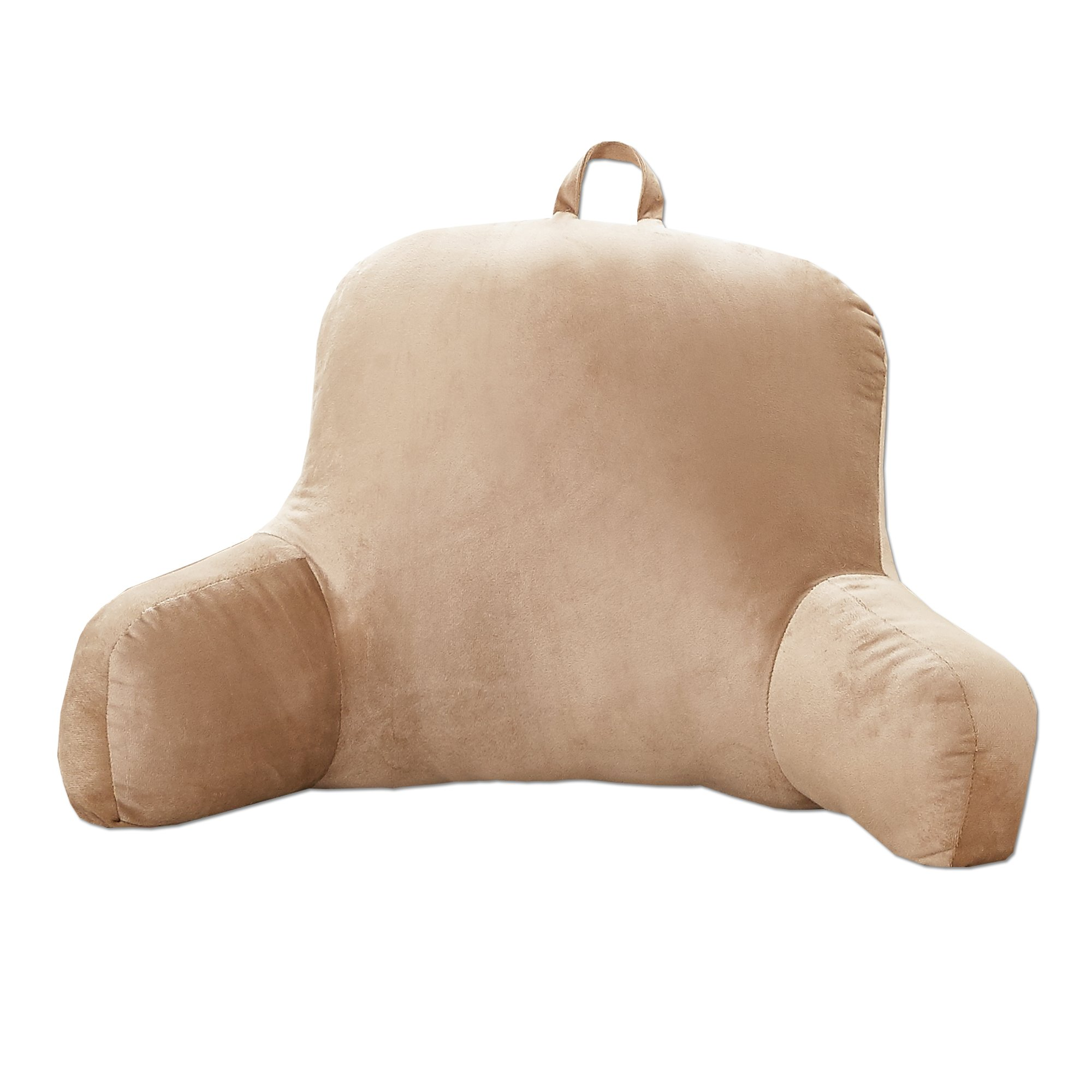 Sweet Home Collection Ultra Plush Brushed Microfiber Bed Rest pillow Lounger, Taupe