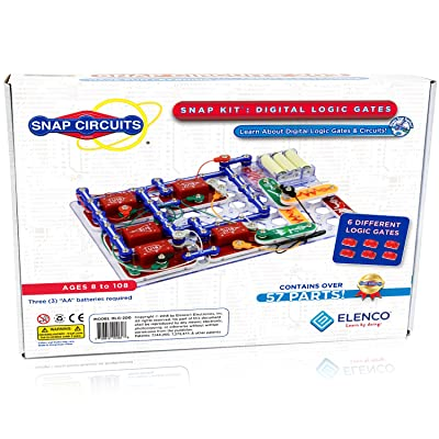 Snap Circuits Digital Logic Gates 200 Exploration Kit | 4-Color Downloadable Project Manual | 42 Snap Modules | 11 Logic Gates | NOT Gate~AND Gate~OR Gate~NAND Gate~NOR Gate~XOR Gate | STEM Curriculum: Toys & Games