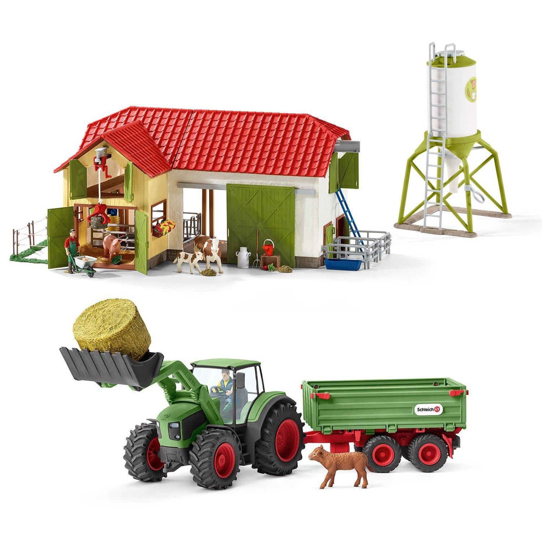 Schleich Farm World - Bauernhof 42333 mit mit 42333 Traktor 42379 und Futtersilo f5564e