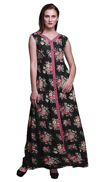 81ef2b281ad7 Bimba Floral Ladies Printed Front Slit Sleeveless Maxi Summer Long Casual  Dress-X-Small