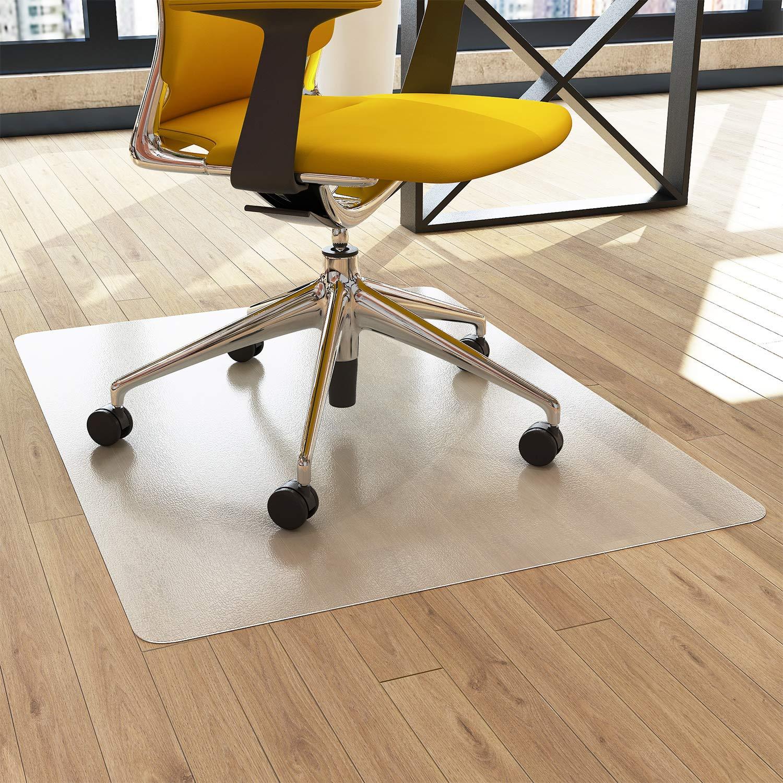 Chair Mat Office 48 x 36 for Hardwood Floors - FEZIBO Floor Mats for Desk Chairs, Shipped Flat